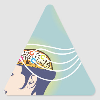 Second Brain Connected Illustration Triangle Sticker