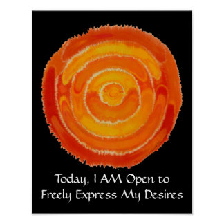 Second Chakra Art: #1: Express Needs - Desires Poster