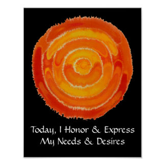 Second Chakra Art: #1: Express Needs - Desires Posters