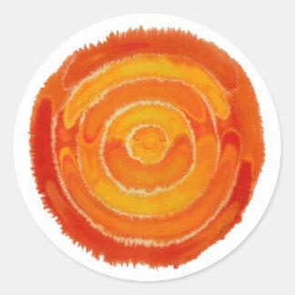 Second Chakra Healing Art #1 Classic Round Sticker