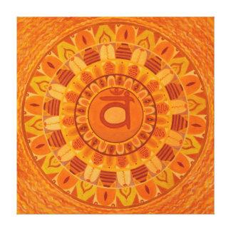 Second Chakra Mandala Canvas Print