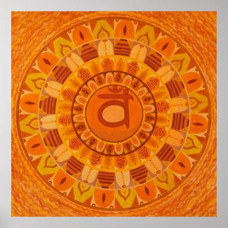 Second Chakra Mandala Poster