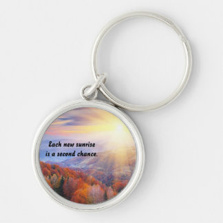 Second Chance With Each New Sunrise Keychain