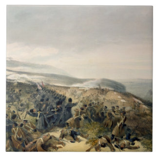 Second Charge of the Guards at Inkerman, 5th Novem Large Square Tile