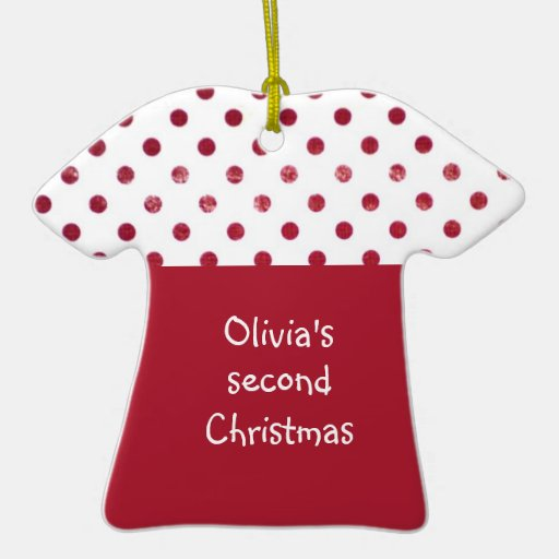 Second Christmas Double-Sided T-Shirt Ceramic Christmas Ornament