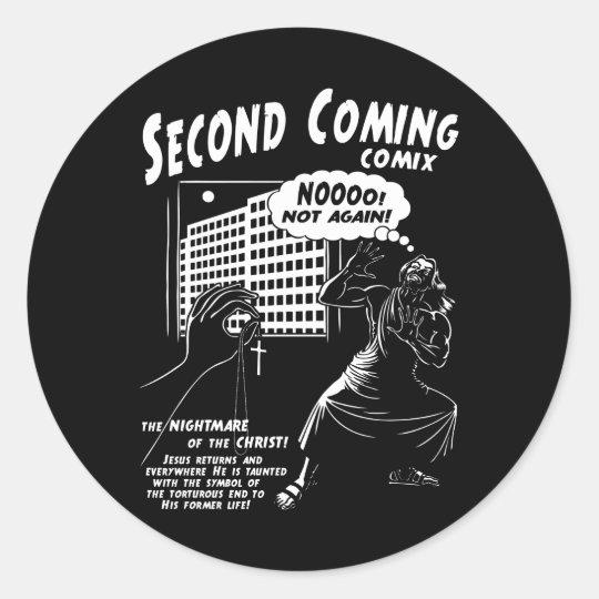 Second Coming Comix 1c Classic Round Sticker