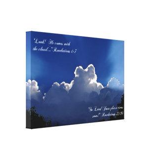 Second Coming Inspirational Scripture Canvas Print