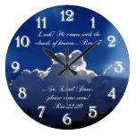 Second Coming Inspirational Scripture Clock