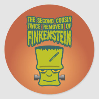 Second Cousin Twice Removed of Finklestein Round Stickers