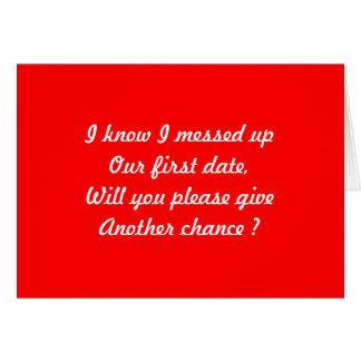 Second date card