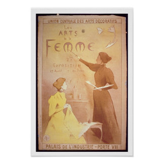 'Second Exhibition of Women's Art, Palais de L'Ind Poster