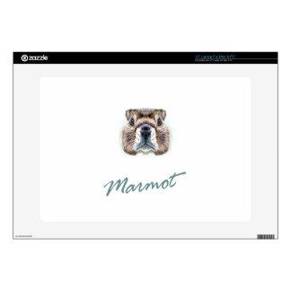 "Second February - Marmot Day 15"" Laptop Skin"