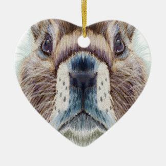 Second February - Marmot Day - Appreciation Day Ceramic Ornament