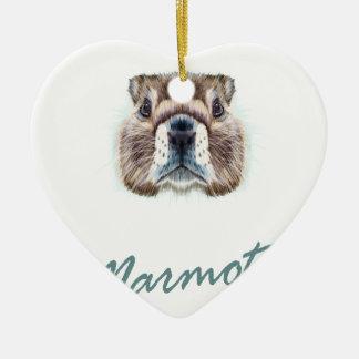 Second February - Marmot Day Ceramic Ornament