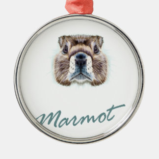 Second February - Marmot Day Metal Ornament