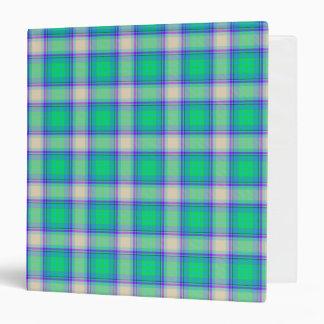 Second Fibonacci Plaid Nerdy Math Tartan Binder