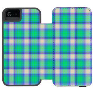 Second Fibonacci Plaid Nerdy Math Tartan Wallet Case For iPhone SE/5/5s