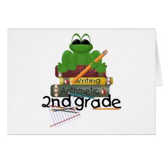 Second Grade, frog Card