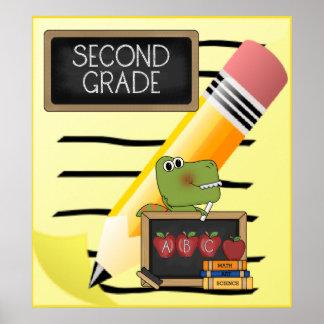 Second Grade Notepad ABC Croc School Poster