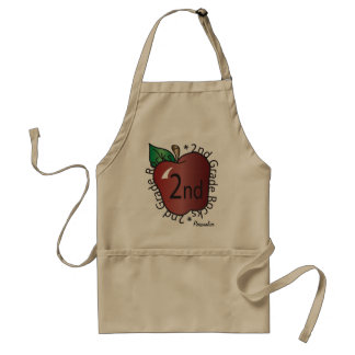 Second Grade Personalize | School Adult Apron