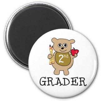 Second Grade School 2 Inch Round Magnet