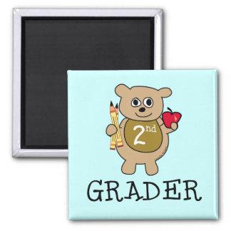 Second Grade School 2 Inch Square Magnet