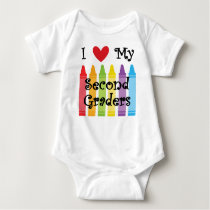second grade teacher2 baby bodysuit