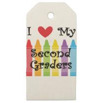 second grade teacher2 wooden gift tags