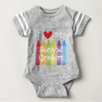 second grade teacher baby bodysuit