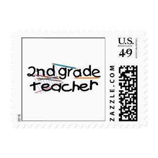 Second Grade Teacher Gift Postage Stamp