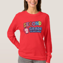Second Grade Teacher Ladies Long Sleeve Tee
