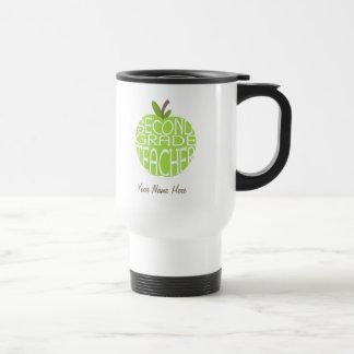 Second Grade Teacher Mug - Green Apple