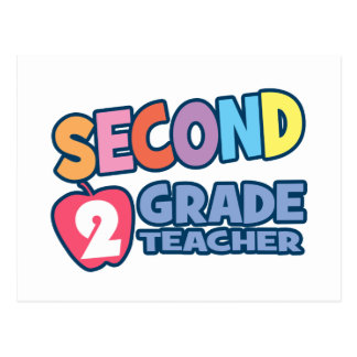 Second Grade Teacher Postcard