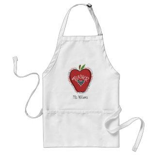 Second Grade Teacher Red Apple Apron