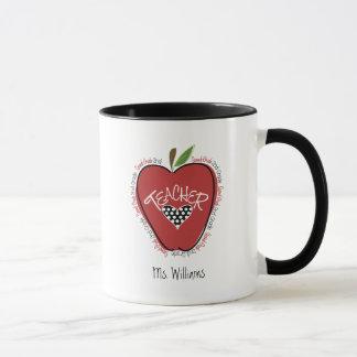 Second Grade Teacher Red Apple Mug