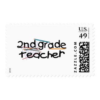 Second Grade Teacher Stamp