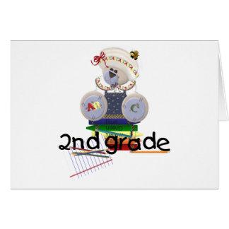 Second Grade, teddy bear Card