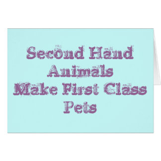 Second Hand animals make Card