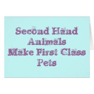 Second Hand animals make Greeting Card