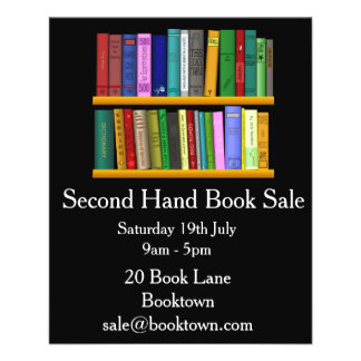 Second Hand Book sale flyer