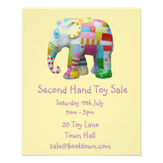 Second Hand Toy sale flyer