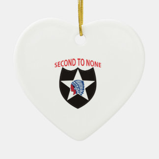 SECOND ID SECOND TO NONE CHRISTMAS ORNAMENT