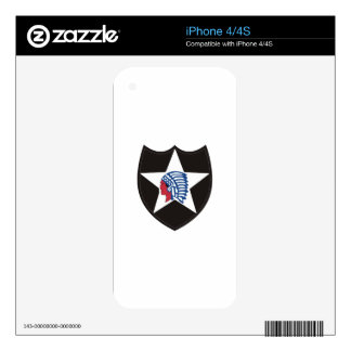 SECOND INFANTRY INDIAN HEAD DECALS FOR THE iPhone 4