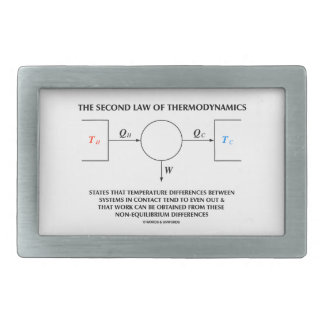 Second Law Of Thermodynamics Isolated System Belt Buckle