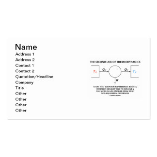 Second Law Of Thermodynamics Isolated System Double-Sided Standard Business Cards (Pack Of 100)