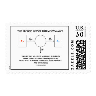 Second Law Of Thermodynamics No Work Equilibrium Postage