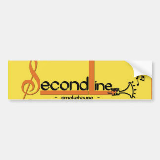 Second Line Smokehouse BBQ Bumper Sticker