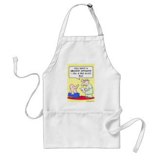 second opinion big shot doctor adult apron