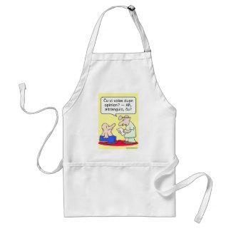 second opinion big shot doctor esperanto adult apron