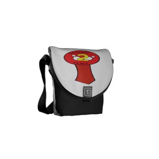 Second Place Bowling Ribbon Messenger Bag